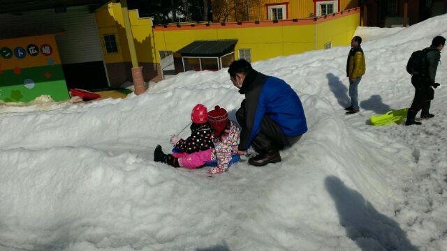 子連れで雪山へ